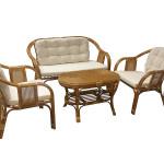 Мебель из ротанга с мягкими вставками