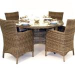 Плетёный стол и кресла