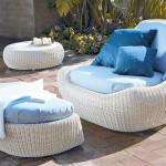 Плетёная мягкая мебель