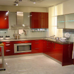 Кухня цвета бордо