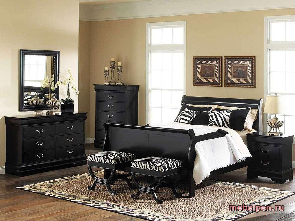 Чёрный набор корпусной мебели