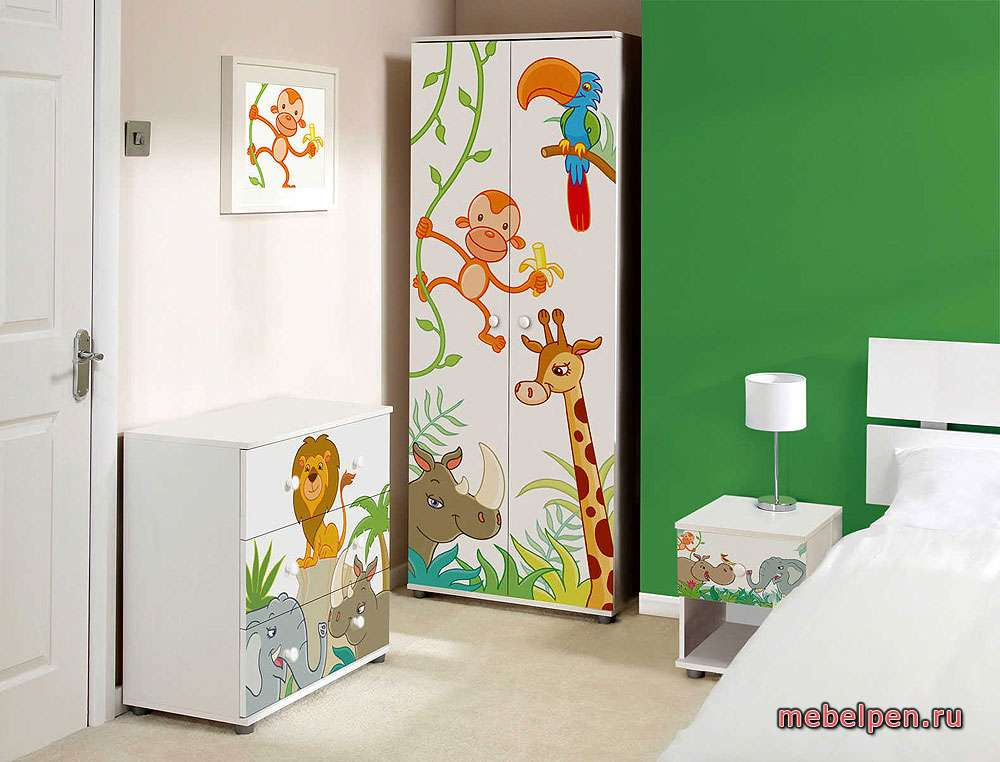 Мебель для детской с рисунком