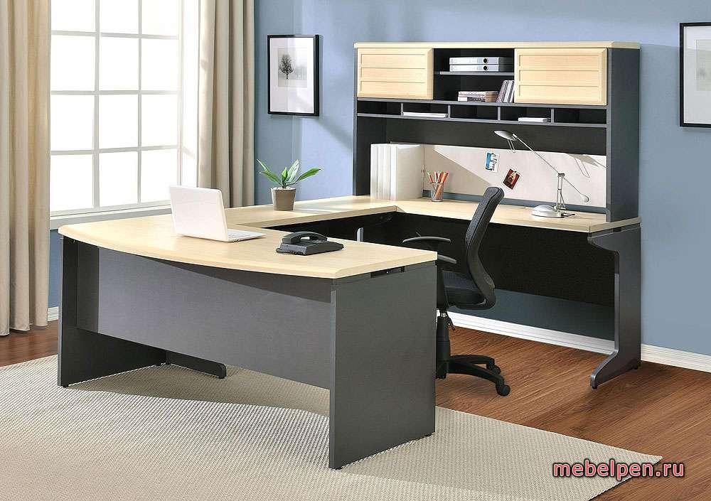 """Офисный стол в виде буквы """"П"""""""